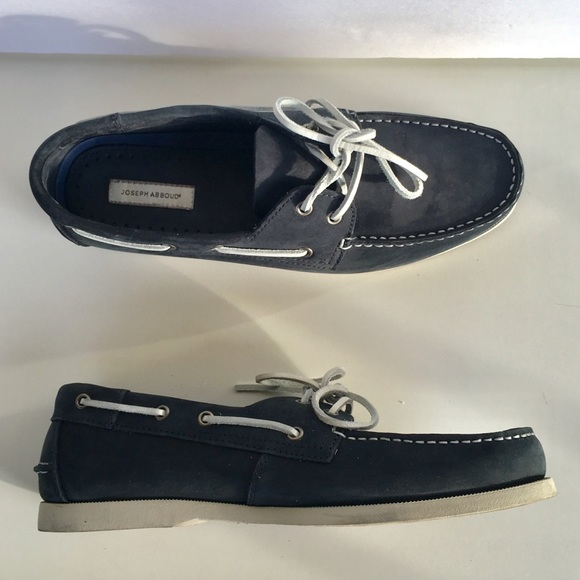 816e8896aa4 Joseph Abboud Navy Blue Nubuck Boat Shoes